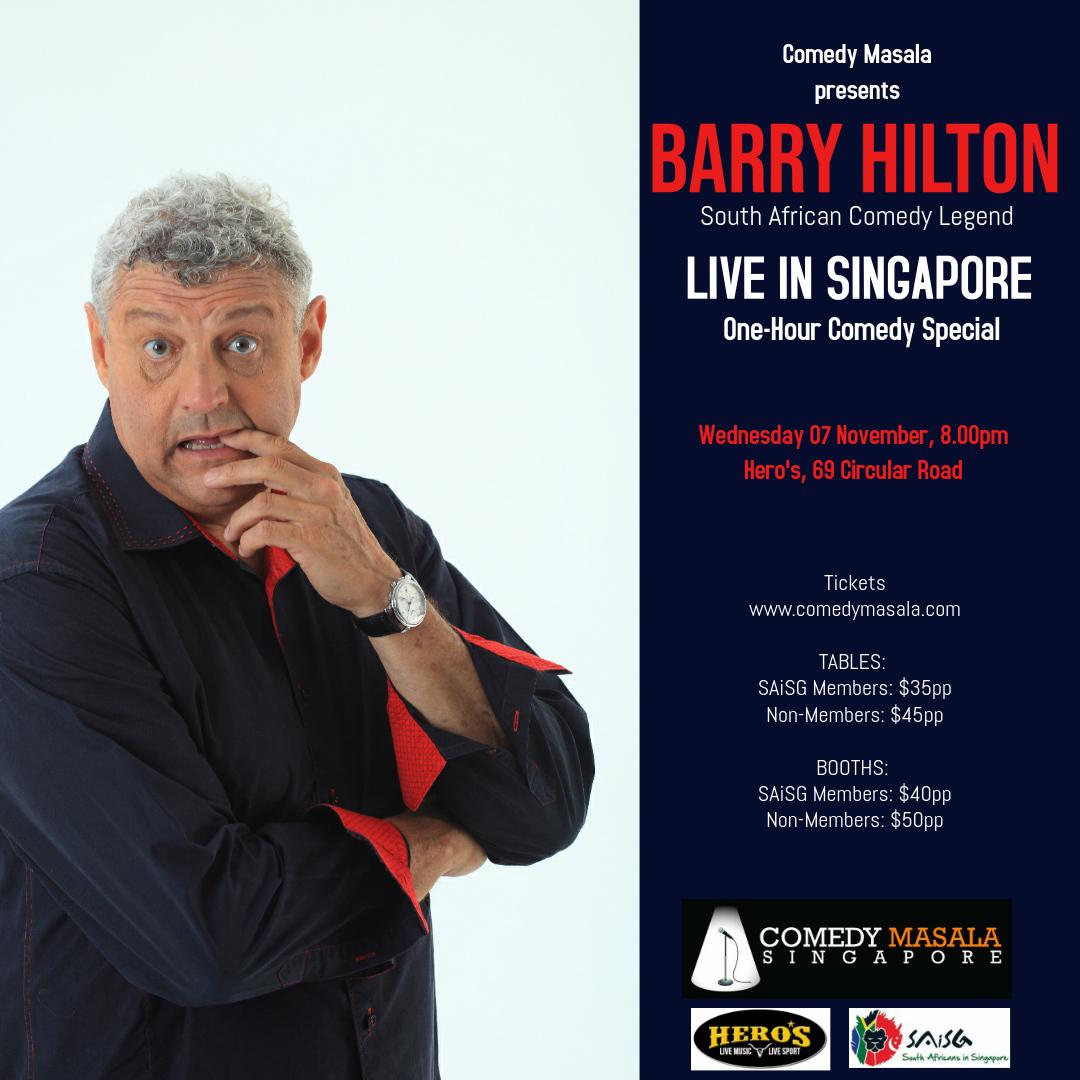 Barry Hilton - SAISG poster